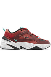 M2K Tekno leather and mesh sneakers