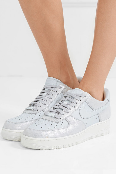 Nike Sneakers Air Force 1 07 metallic suede and leather sneakers