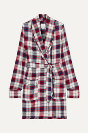 Checked flannel robe