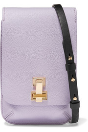E.Z mini textured-leather shoulder bag