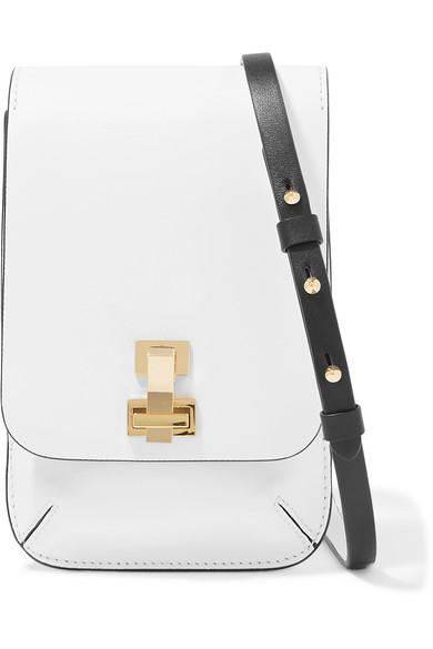 THE VOLON E.Z Mini Leather Shoulder Bag in White