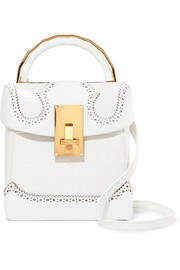 THE VOLON Great L Alice croc-effect leather shoulder bag