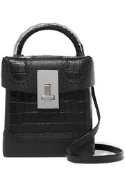 Great L Alice laser-cut croc-effect leather shoulder bag