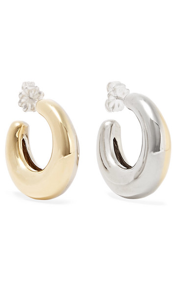4360ca94f Leigh Miller | Two-Tone Bubble gold-tone and white bronze hoop ...