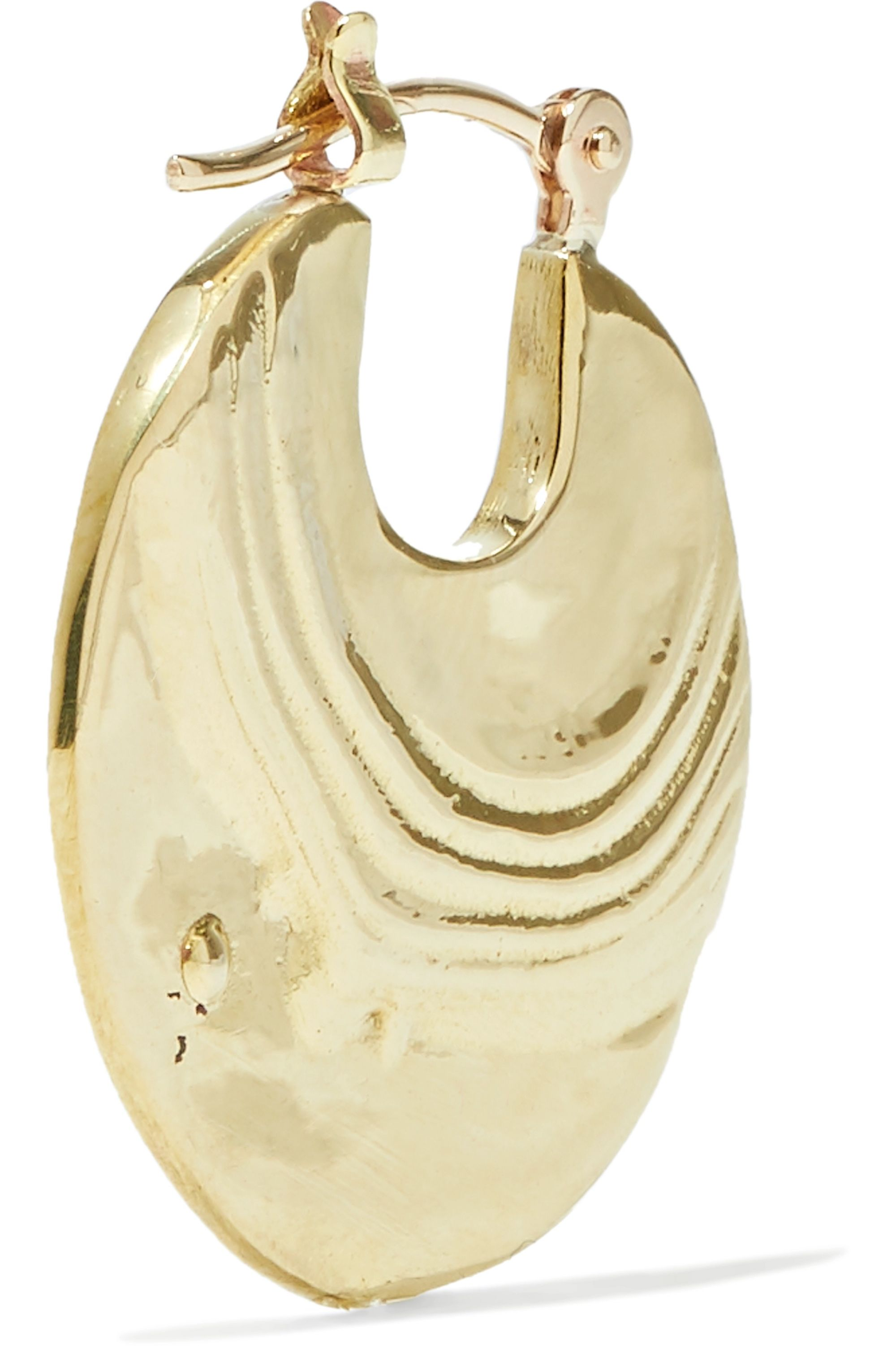 Leigh Miller Small Paillette gold-tone hoop earrings