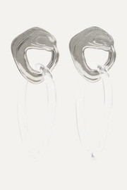 Leigh Miller Kinetic white bronze and glass earrings