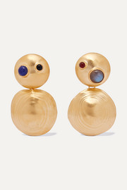 Leigh Miller Gold-tone multi-stone earrings