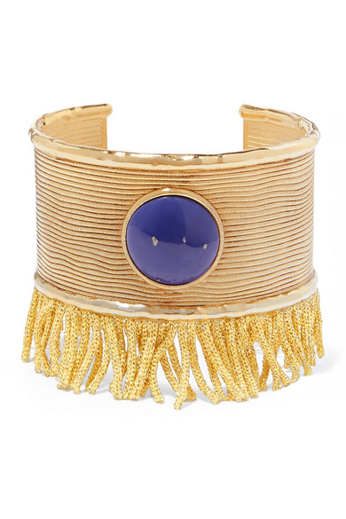 Azzura Gold-Plated Resin Cuff in Blue