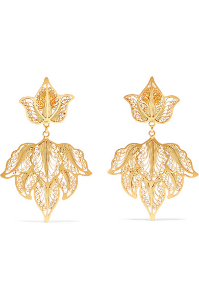 MALLARINO Emma gold-tone earrings