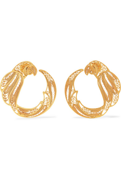 MALLARINO Pepa gold vermeil hoop earrings