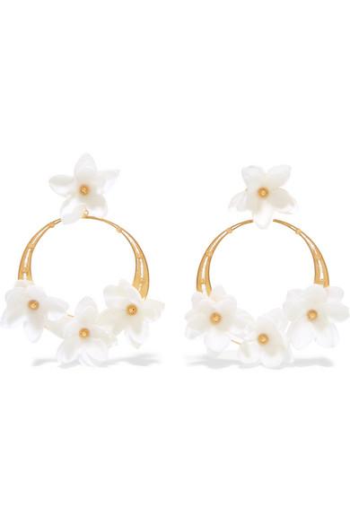 MALLARINO Suzanna gold vermeil silk hoop earrings