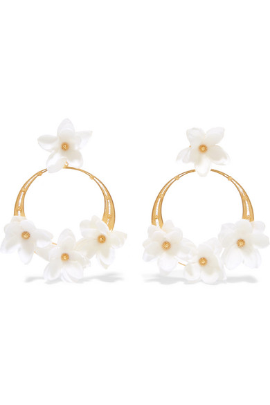 Suzanna gold vermeil silk hoop earrings