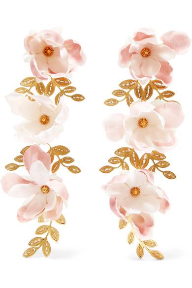 MALLARINO Gaby gold vermeil silk earrings