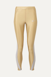 Speed cropped paneled metallic Dri-FIT stretch leggings