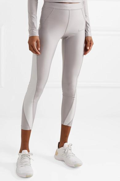 c9124313972b1 Nike   Speed cropped paneled metallic Dri-FIT stretch leggings   NET ...