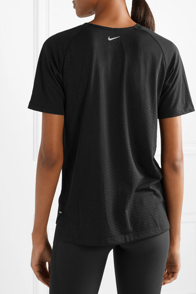 Nike Shirts Tailwind perforated Dri-FIT stretch-jersey T-shirt