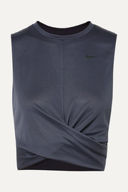 Nike Cropped twisted ribbed Dri-FIT tank