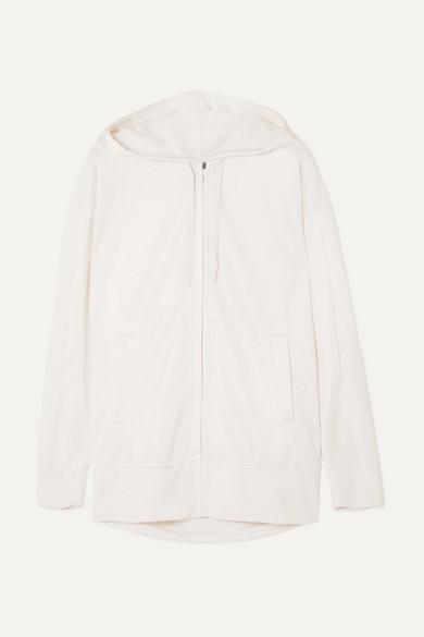 NIKE | Nike - Dry Shimmer French Terry Hoodie - Cream | Goxip