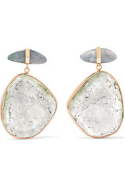 14-karat Rose And Yellow Gold, Opal And Tourmaline Earrings - one size Melissa Joy Manning