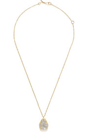 Melissa Joy Manning 18-karat gold diamond necklace