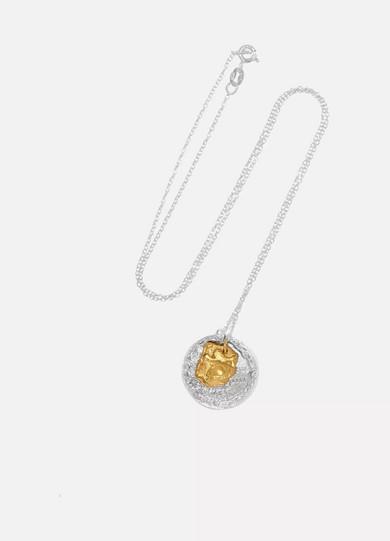 ALIGHIERI LA COLLISIONE GOLD-PLATED AND SILVER NECKLACE