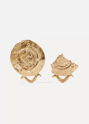Alighieri La Passione Di Napoli gold-plated earrings