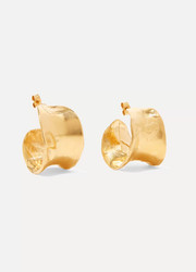 Alighieri The Joker's Game gold-plated hoop earrings
