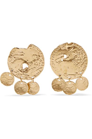 ALIGHIERI BABY LION GOLD-PLATED EARRINGS