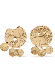 Alighieri Baby Lion gold-plated earrings