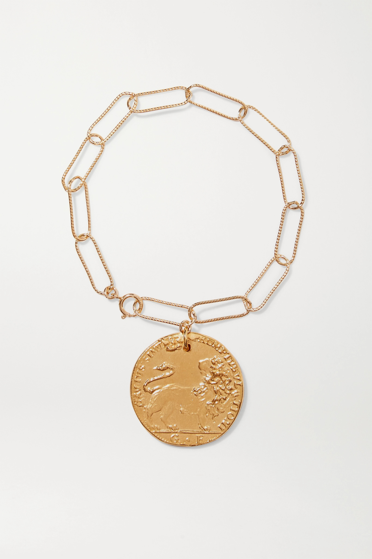 Alighieri Il Leone gold-plated bracelet