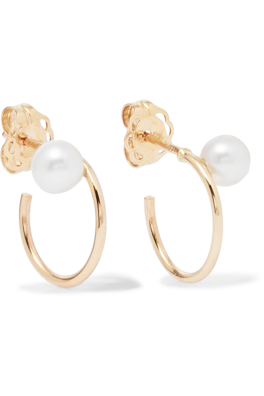 Natasha Schweitzer Boucles d'oreilles en or 9 carats et perles Lara