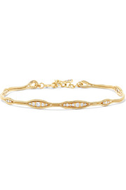 Fluid 18-karat gold diamond bracelet