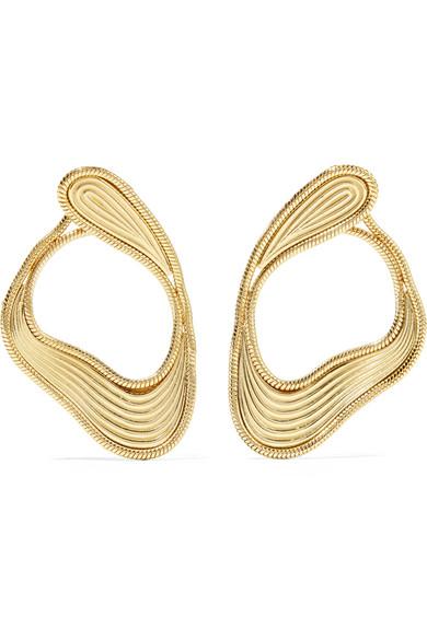 FERNANDO JORGE STREAM LINES 18-KARAT GOLD EARRINGS