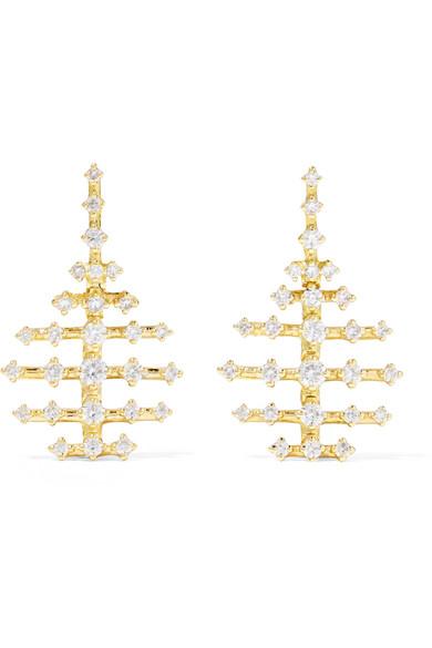 FERNANDO JORGE MINI DISCO 18-KARAT GOLD DIAMOND EARRINGS