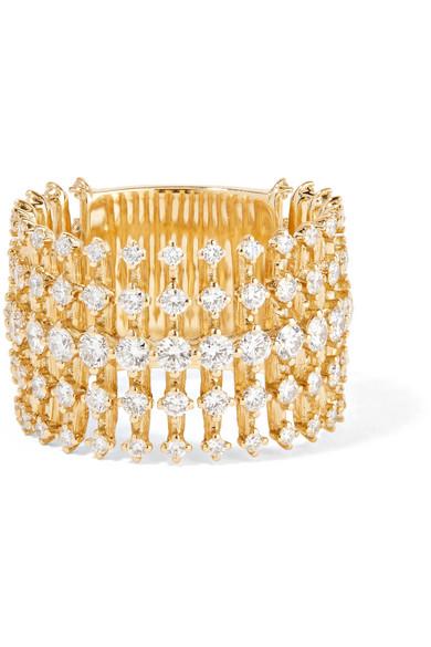Disco 18-Karat Gold Diamond Ring