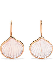 Anadara 18-karat rose gold quartz earrings