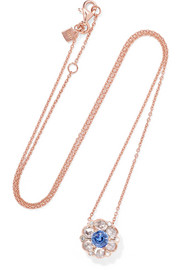 Selim Mouzannar Beirut 18-karat rose gold, diamond and sapphire necklace