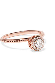 Beirut 18-karat rose gold diamond ring