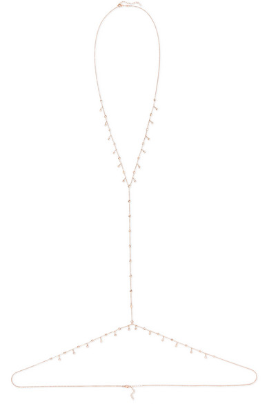 14-karat Rose Gold Diamond Body Chain - one size Jacquie Aiche Pciyk