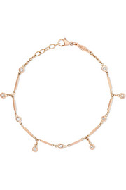 14-karat rose gold diamond bracelet
