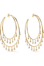 Jacquie Aiche 14-karat gold diamond earrings