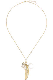 Jacquie Aiche 14-karat gold multi-stone necklace