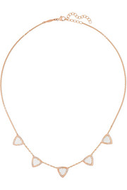 Jacquie Aiche 14-karat rose gold, aquamarine and diamond necklace