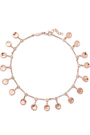 Jacquie Aiche 14-karat rose gold diamond anklet