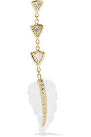 Jacquie Aiche 14-karat gold, diamond and moonstone earring