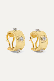 Macri Classica 18-karat gold diamond hoop earrings
