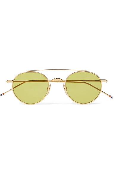 2841ea5eca4 Thom Browne. Round-frame gold-tone sunglasses