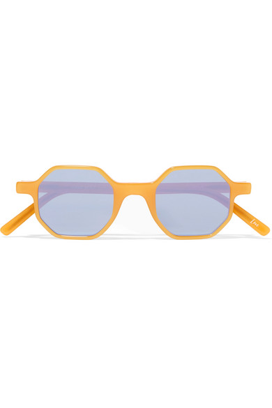 Andy Wolf - Octagon-frame Acetate Sunglasses - Yellow