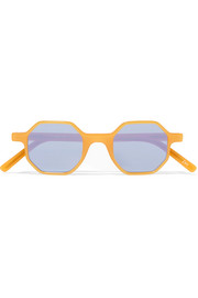 Octagon-frame acetate sunglasses