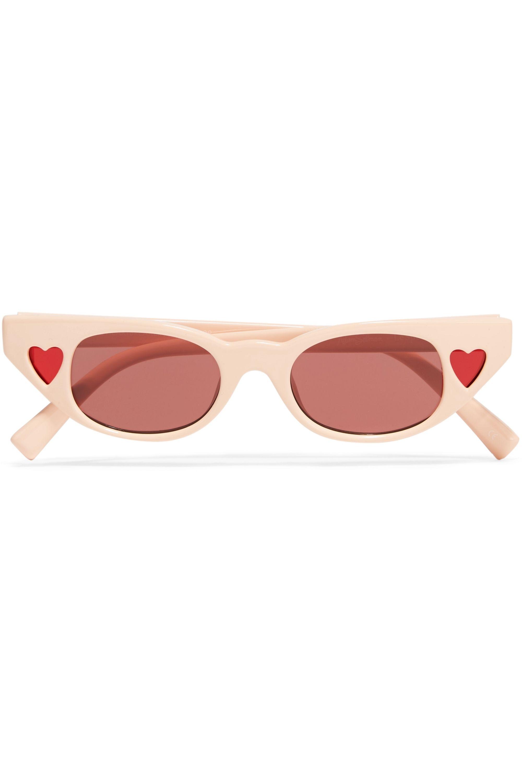 Le Specs Lunettes de soleil œil-de-chat en acétate The Heartbreaker par Adam Selman
